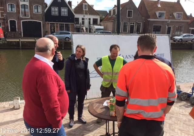 Werkzaamheden kademuur Monnickendam afgerond