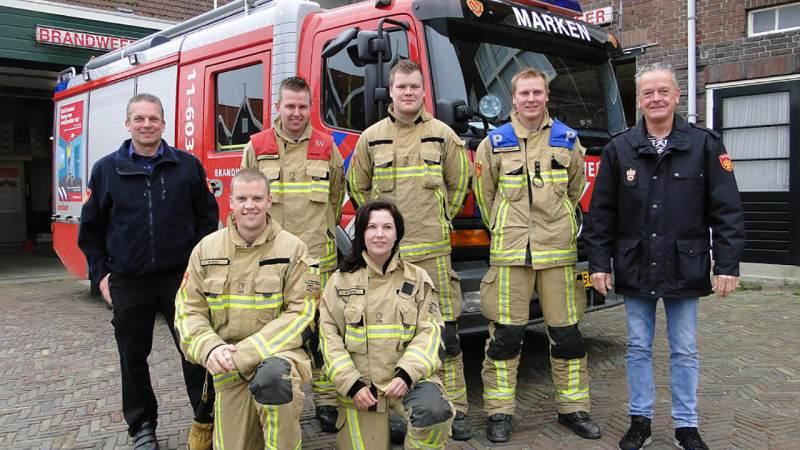 Brandweer Marken winnaar bij provinciale 112 wedstrijd in Muiderberg