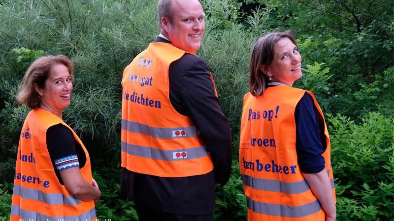 Drukbezochte afscheidsreceptie wethouders Laura Bromet, Jacob Kes en Gabriëlle Bekhuis