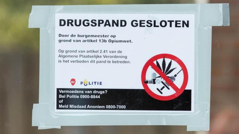 Sluiting woning in Oranjestraat Monnickendam wegens drugsvondst