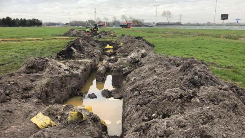 Gasleidingen verlegd bij Het Schouw