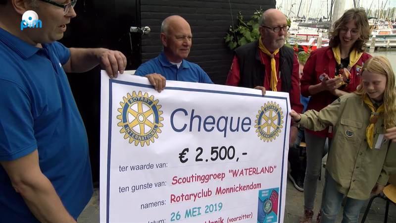 Happen en Trappen met de Rotary voor de Waterlandse scoutingclub