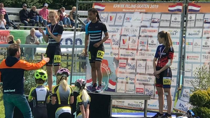 Lataesha Narain uit Broek in Waterland Nederlands Kampioen op 200 en 500 meter