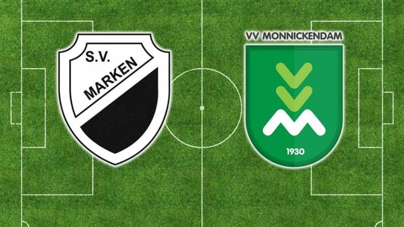 SV Marken en VV Monnickendam treffen elkaar in KNVB Districtbeker