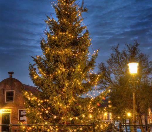 Rotaryclub Monnickendam plaatst kerstboom aan Middendam in Monnickendam