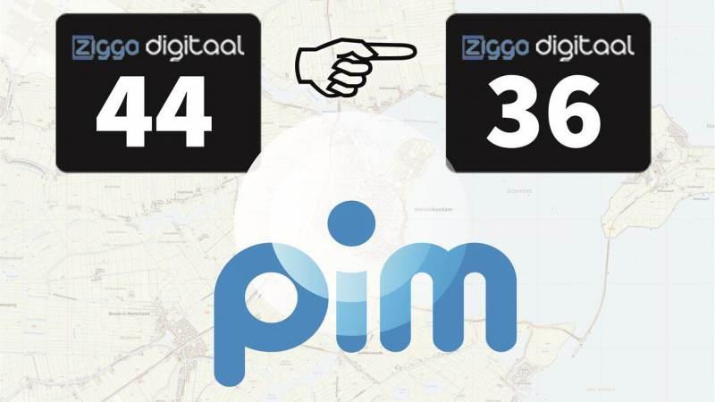Omroep PIM nu op Ziggo-kanaal 36