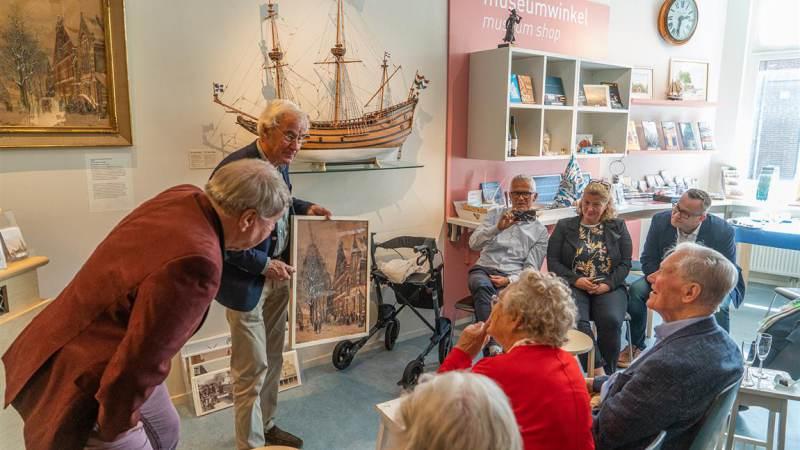 Aquarel van Cornelis Springer geschonken aan Vereniging Oud Monnickendam