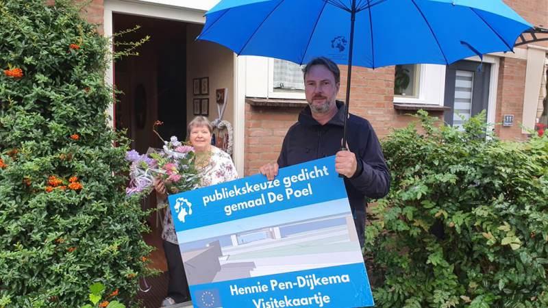 Gedicht 'Visitekaartje' siert gemaal De Poel in 2022
