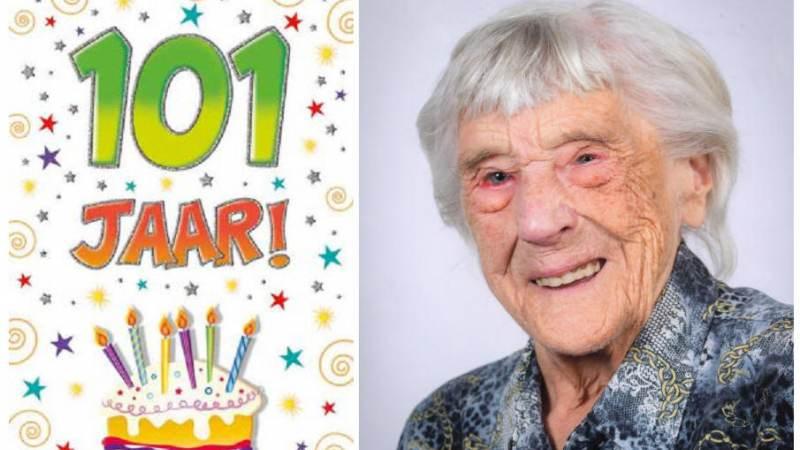 Loppie Zeeman-Zeeman is 101 jaar geworden