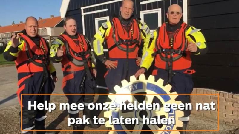 Actie Rotary Monnickendam voor overlevingspakken KNRM Marken