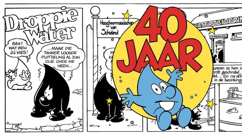 Waterschap striptekenwedstrijd: Droppie Water 40 jaar
