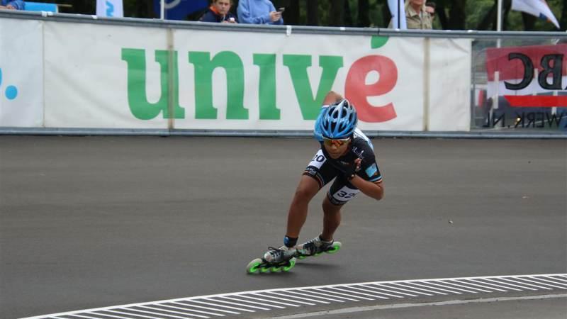 Lataesha Narain Nederlands Kampioen op de 200m inline skaten