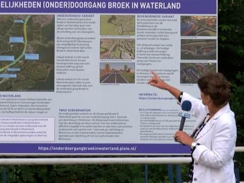 Bereikbaarheid Waterland houdt 2e inloopavond onderdoorgang N247 door Broek in Waterland