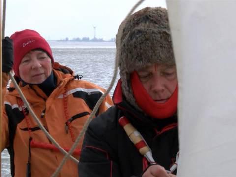 IJszeilers trekken massaal naar de Gouwzee