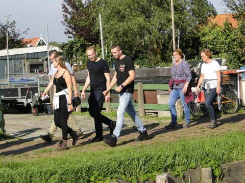 Zonnige en geslaagde wandeltocht van IJsclub Marken