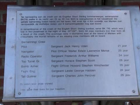Vliegtuig neergeschoten in WOII gevonden door KNRM Marken, wordt geborgen