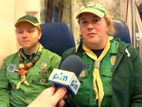 Scoutinggroep Waterland haalt Vredeslicht naar Waterland