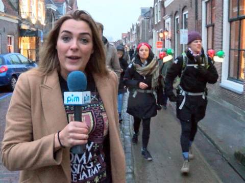 3FM Serious Request dj's bezoeken Monnickendam