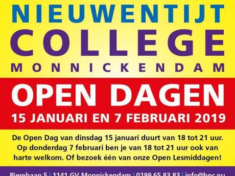 Open Dagen Bernard Nieuwentijt College
