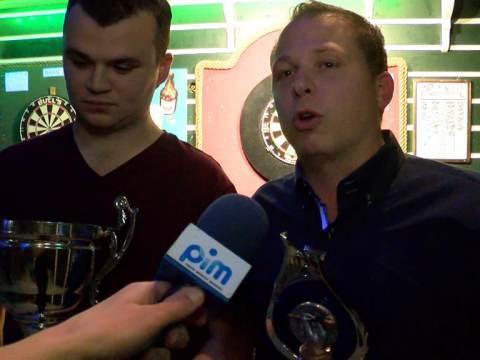 Leroy Zondervan wint voor de derde keer op rij het Mereker Open darttoernooi