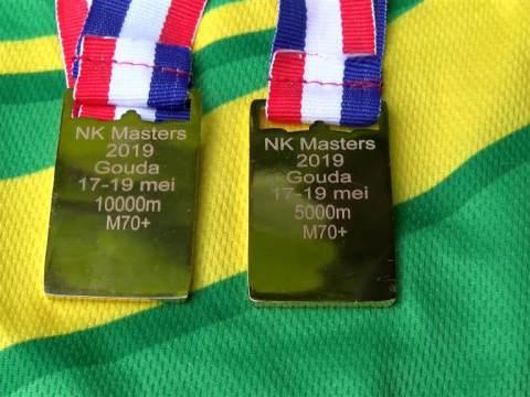 Bert Schalkwijk weer twee gouden medailles rijker op NK Masters
