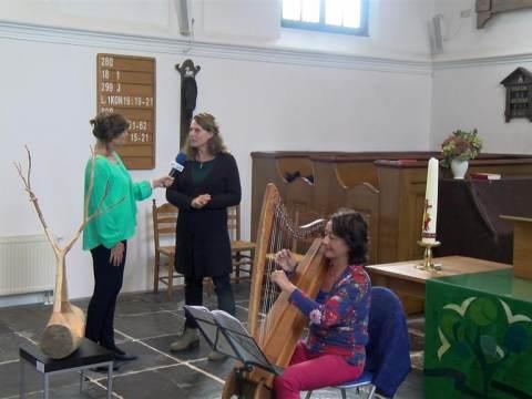 Carolien Broersen exposeert in kerk van Zuiderwoude