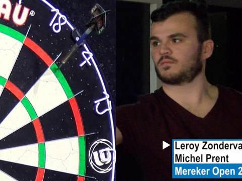Leroy Zondervan 4 jaar op rij winnaar Mereker Open darttoernooi
