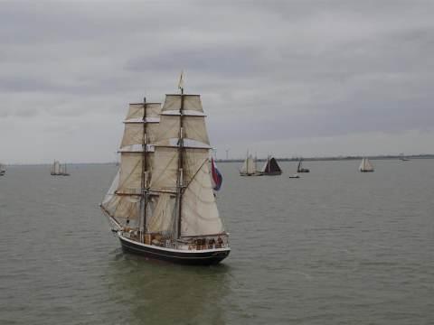 Grote manifestatie van de chartervaart voor een noodfonds