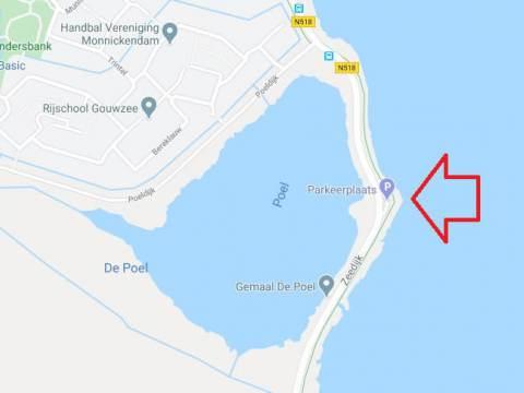 Bouw nieuw gemaal langs N518 bij Monnickendam