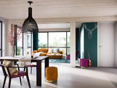 Massief houten appartementen M'DAM 100% verkocht
