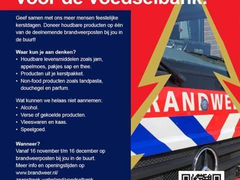 Kerstactie Veiligheidsregio Zaanstreek-Waterland voor de Voedselbank