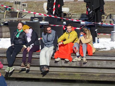 Schaatsplezier in de Marker haven