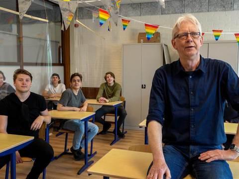 Laatste lesdag van Klaas Springer op BNC