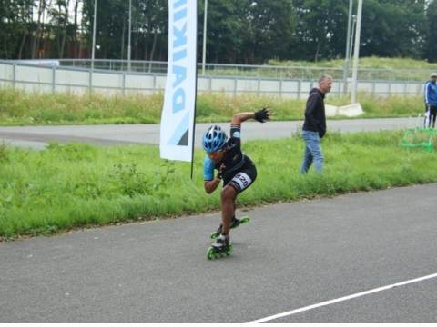 3 medailles voor Lataesha Narain bij NK inline skaten op de weg