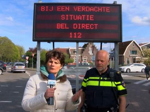 Veel vragen rondom waarschuwingsbord van politie in Monnickendam